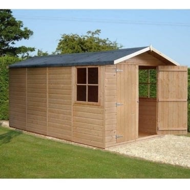 Jersey Garden Shed 7ft x 13ft Double Door Shiplap