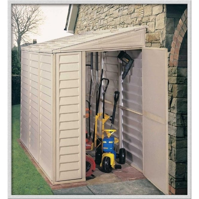 Sidemate 4 x 8 Lean-To Plastic Shed