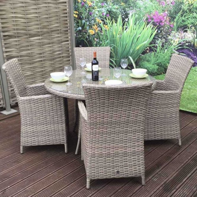 Click to view product details and reviews for Signature Weave Darcey 4 Seat Round Dining Set.