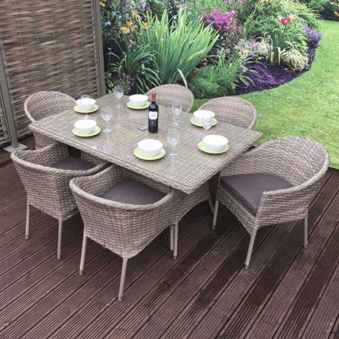 Click to view product details and reviews for Signature Weave Darcey 6 Seat Rectangular Stacking Set.