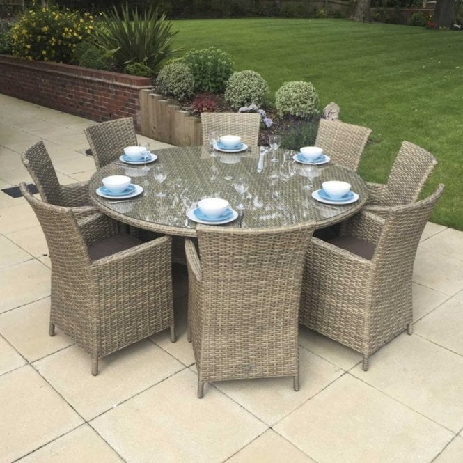 Click to view product details and reviews for Signature Weave Darcey 8 Seat Round Dining Set.