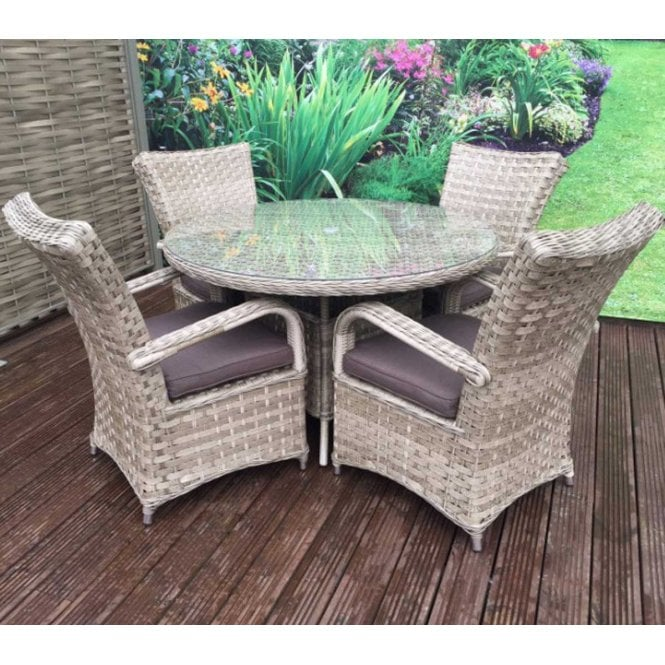Click to view product details and reviews for Signature Weave Florence 4 Seat Round Dining Set In Weave Caramel.