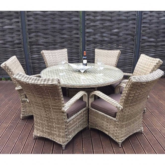 Click to view product details and reviews for Signature Weave Florence 6 Seat Round Dining Set In Weave Caramel.