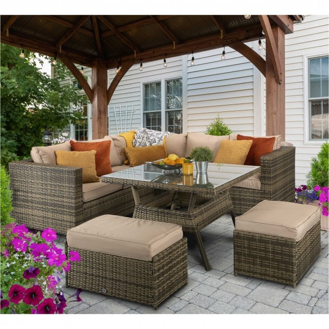 Click to view product details and reviews for Signature Weave Georgia Corner Dining Sofa Set.