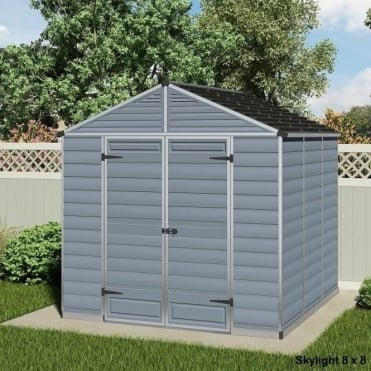 Skylight 8ft Polycarbonate Shed - 4 Lengths Available