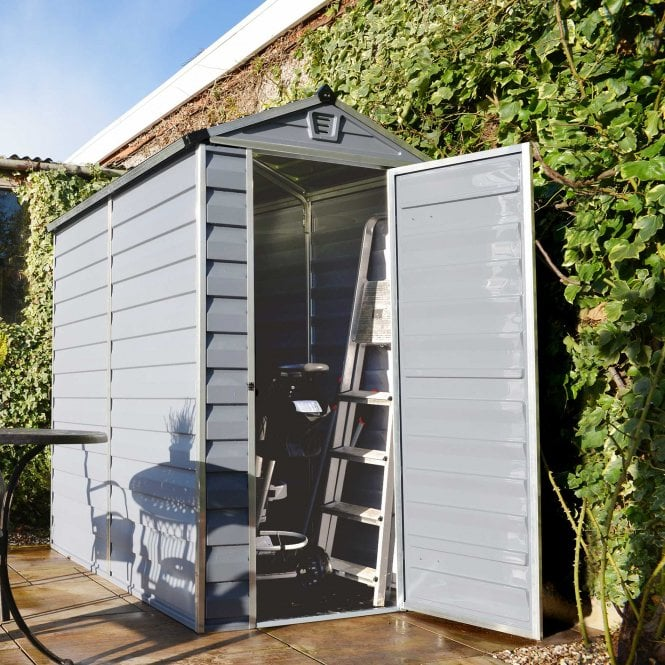 Click to view product details and reviews for Skylight Shed 4 X 6 Grey.