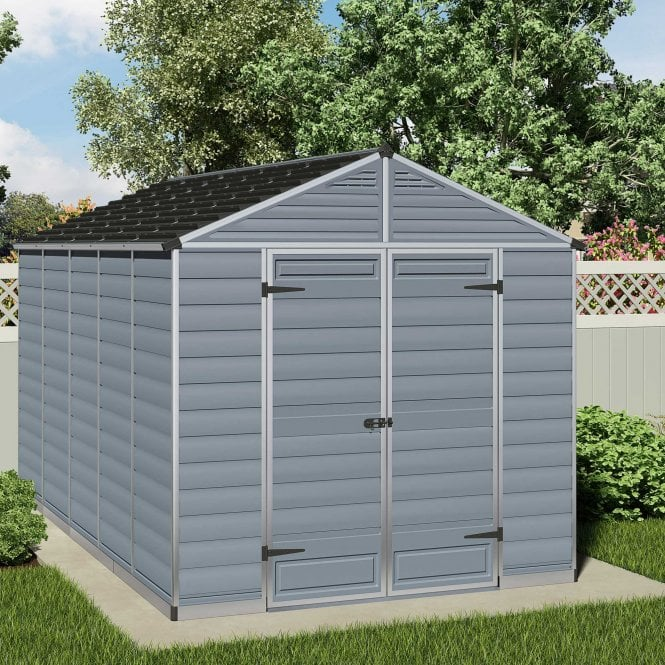 Click to view product details and reviews for Skylight Shed 8 X 12 Grey.