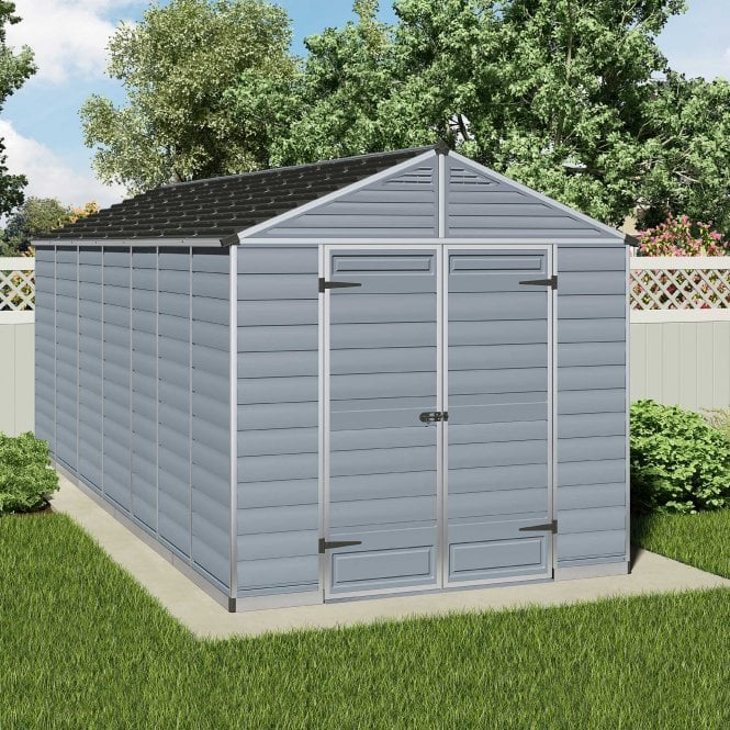 Click to view product details and reviews for Skylight Shed 8 X 16 Grey.