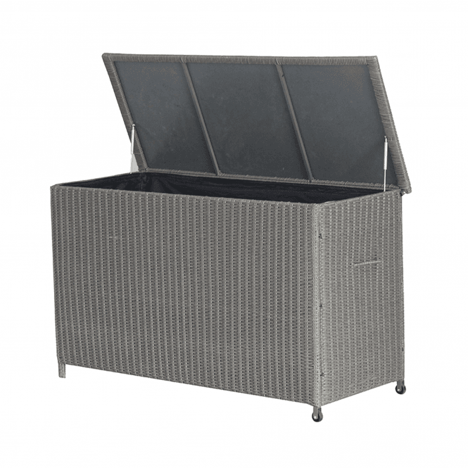 Click to view product details and reviews for Slate Grey Barbados Rattan Cushion Box.