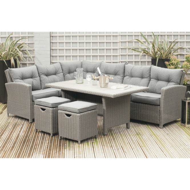 Click to view product details and reviews for Slate Grey Barbados Relaxed Dining Corner Set.