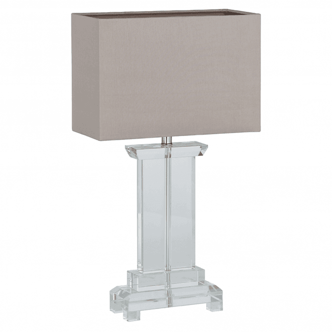 Small Rectangle Crystal Table Lamp And Shade