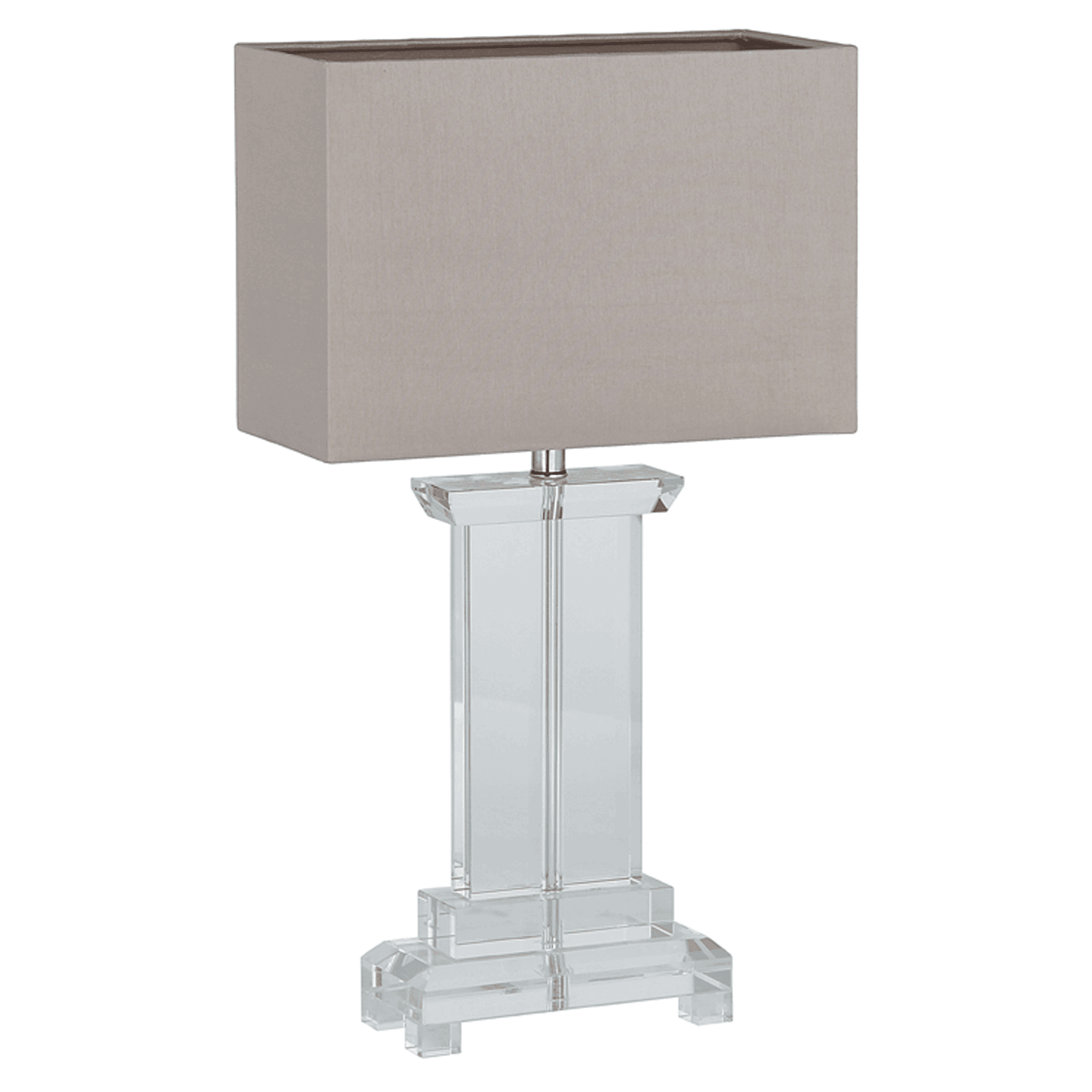 Small Rectangle Crystal Table Lamp