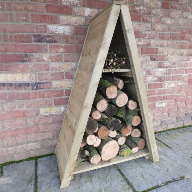Small Triangular Tongue And Groove Log Store