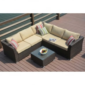 Soliel 4 Piece Corner Sofa Set