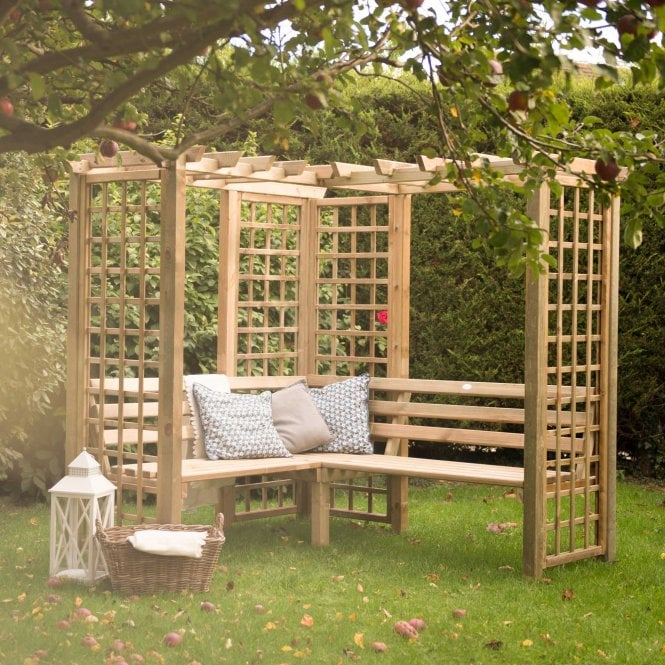 Sorrento Corner Arbour With Large Seating Area