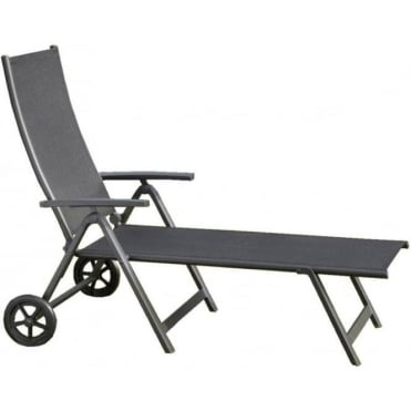 Sorrento Wheeled Recliner Sun Lounger