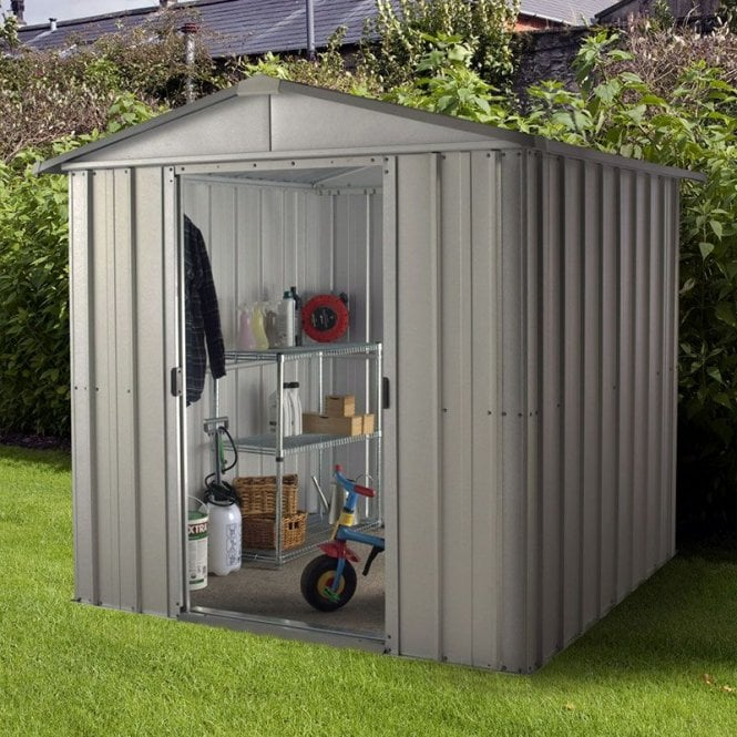 Store All Apex Metal Shed With Floor Support Kit 6 X 8