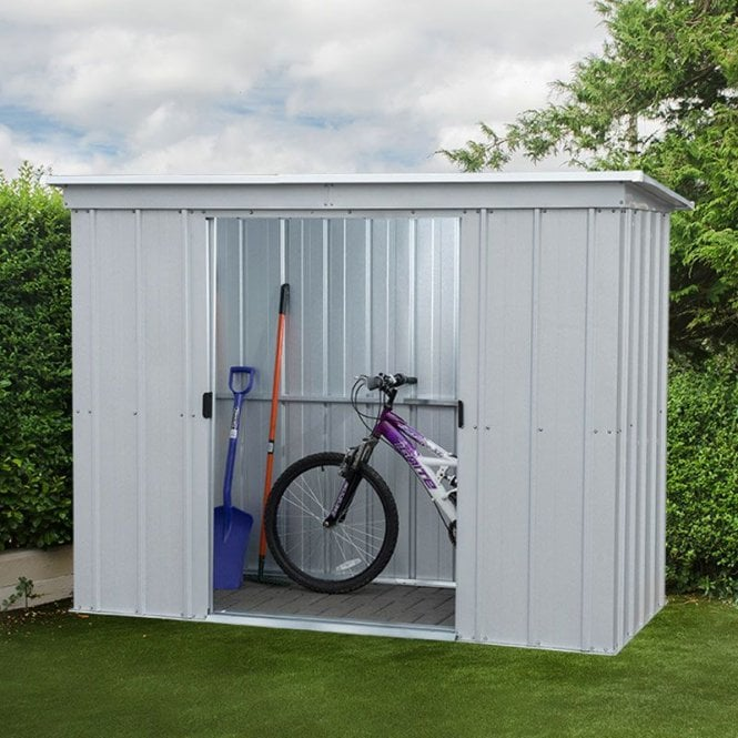 Click to view product details and reviews for Store All Pent Metal Shed With Floor Support Kit 10 X 4.