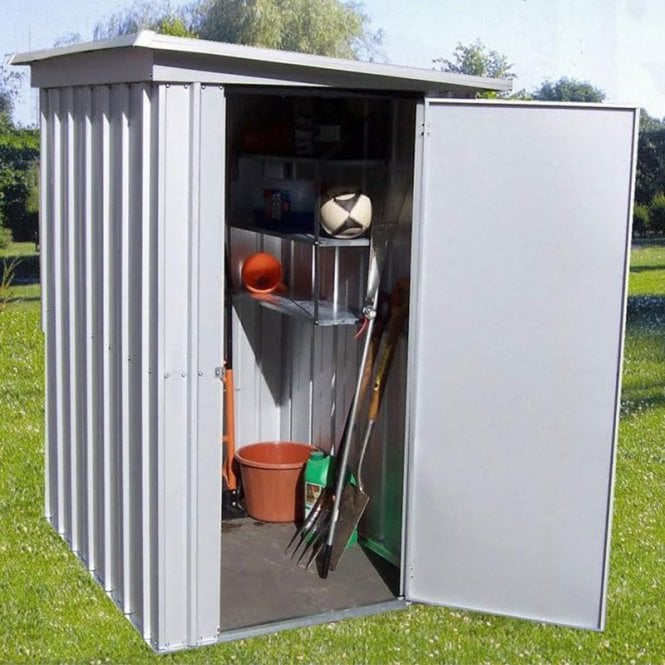 Click to view product details and reviews for Store All Pent Metal Shed With Floor Support Kit 5 X 4.