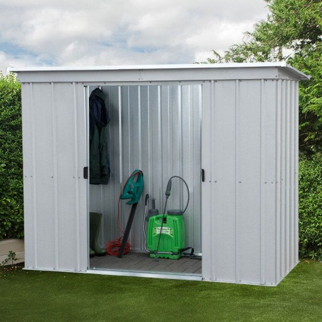 Store All Pent Metal Shed With Floor Support Kit 6 X 4