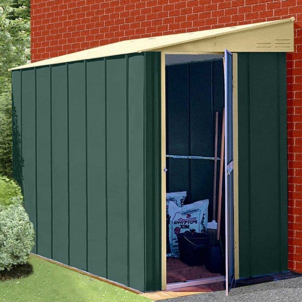 canberra lean to metal garden shed 4 sizes - Garden Sheds With Lean To