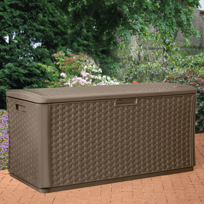 Click to view product details and reviews for Suncast Resin Wicker Effect Deck Box Large.