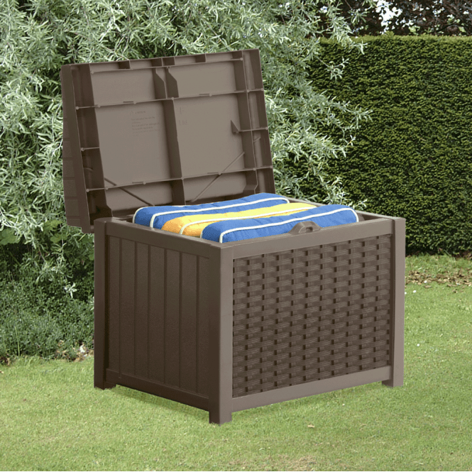 Click to view product details and reviews for Suncast Small Storage Seat In Brown.