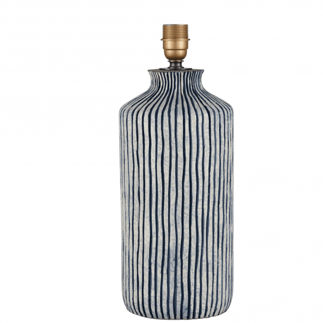 Tall Blue Stripe Ceramic Table Lamp