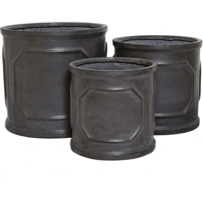 Click to view product details and reviews for The Pot Co Clayfibre Chelsea Cylinder Planter Available In 5 Sizes.