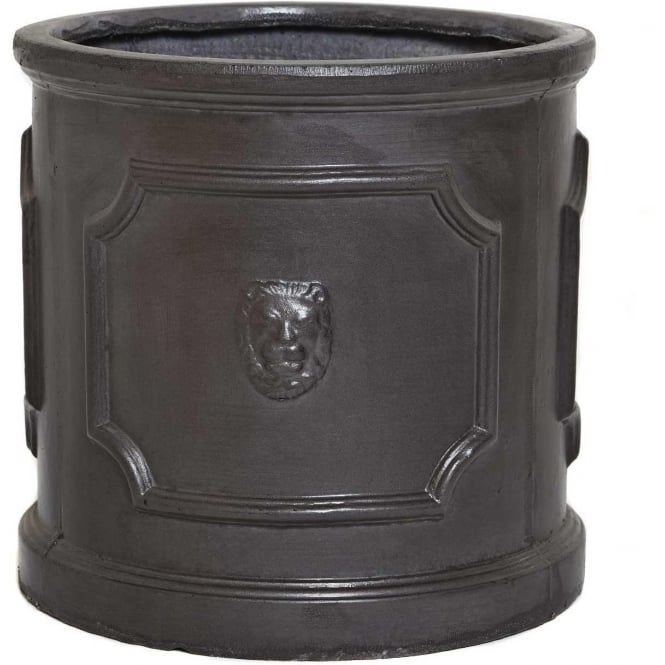 Click to view product details and reviews for The Pot Co Clayfibre Lion Head Cylinder Planter Available In 5 Sizes.
