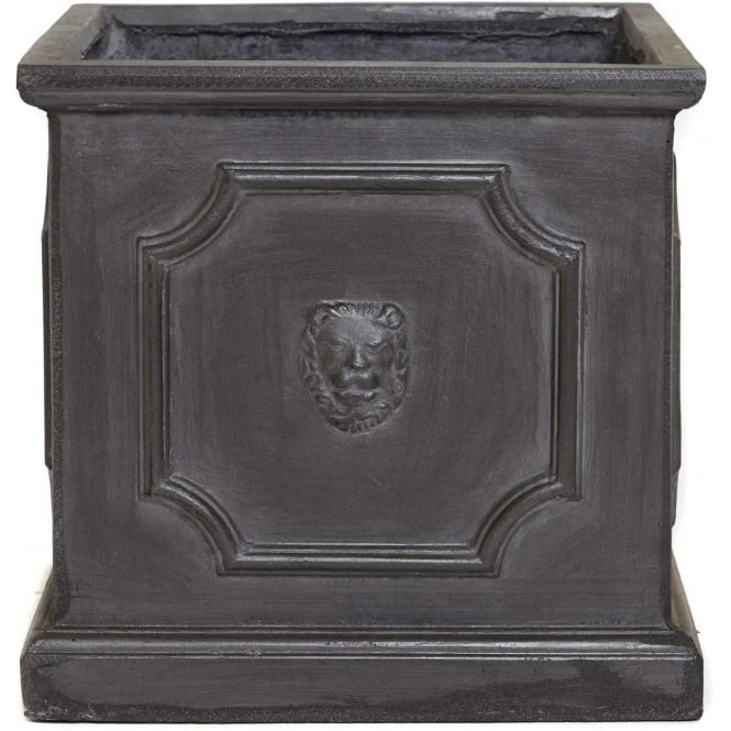 Click to view product details and reviews for The Pot Co Clayfibre Lion Head Square Planter Available In 5 Sizes.