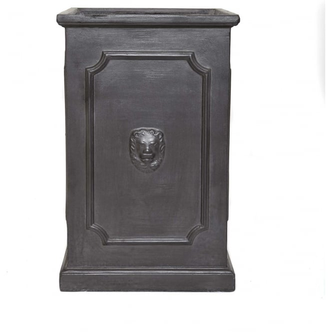 Click to view product details and reviews for The Pot Co Clayfibre Tall Lion Head Square Planter Available In 3 Sizes.