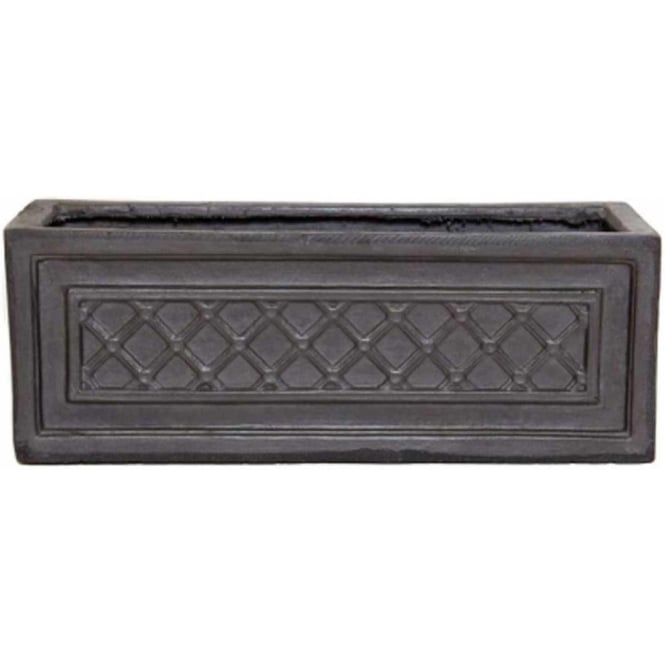 Click to view product details and reviews for The Pot Co Clayfibre Windsor Trough Planter Available In 3 Sizes.