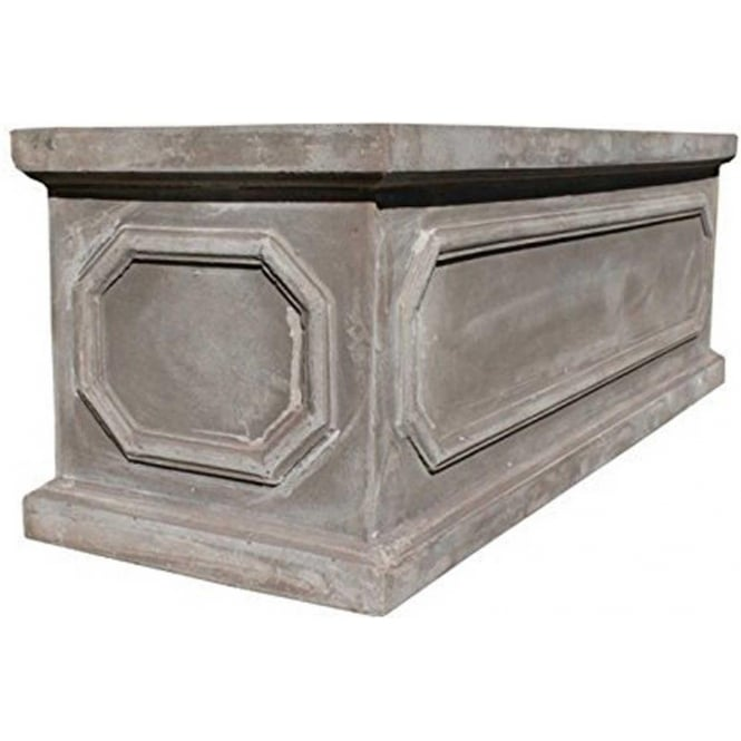 Click to view product details and reviews for The Pot Co Fibrestone Classic Chelsea Trough Planter Available In 5 Sizes.