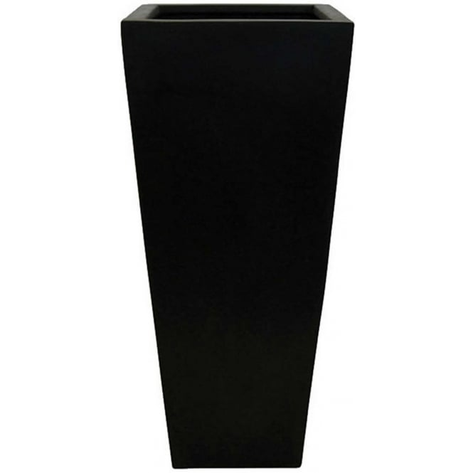 Click to view product details and reviews for The Pot Co Stonefibre High Square Planter 2 Sizes Available In Black.