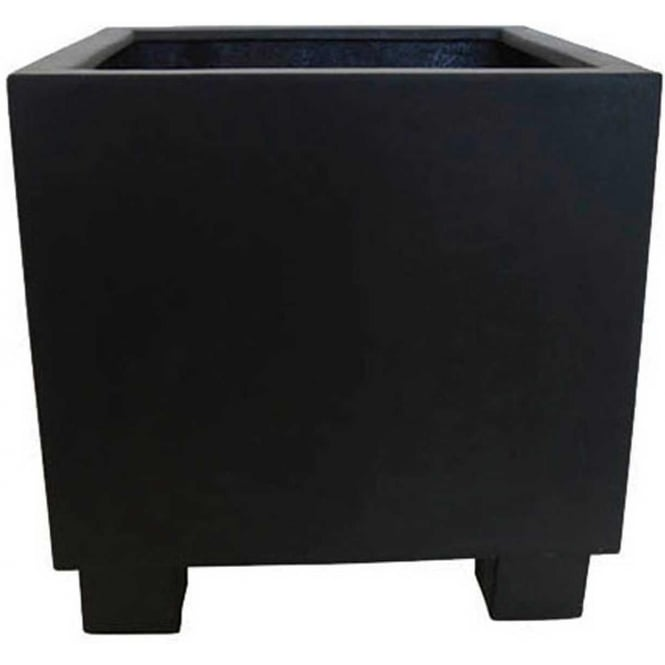 Click to view product details and reviews for The Pot Co Stonefibre Jumbo Cube Planter 4 Sizes Available In Black.