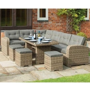 Thornbury Rattan Corner Dining Set