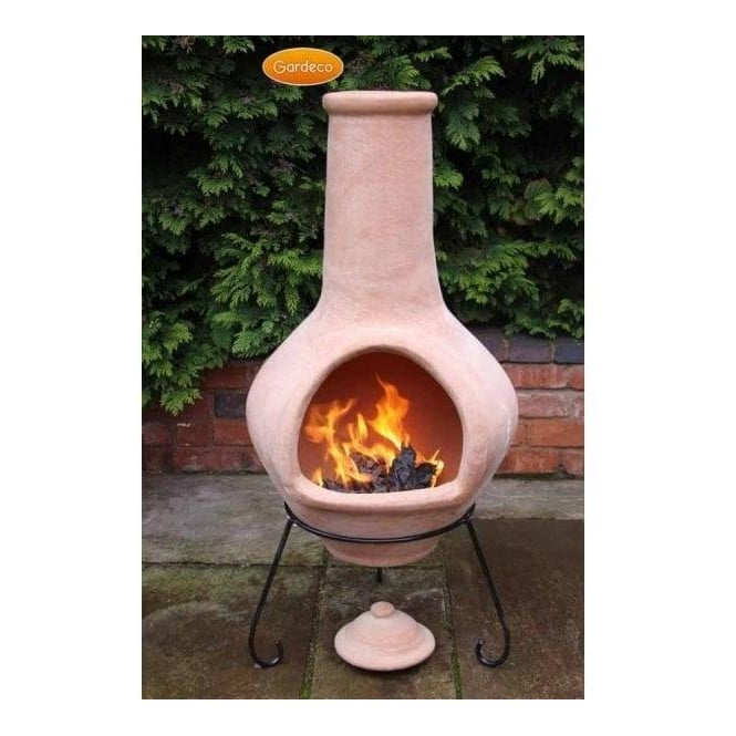 Tibor Jumbo Natural Terracotta Chiminea