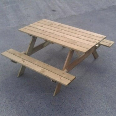 Timber 6ft Garden Picnic Table