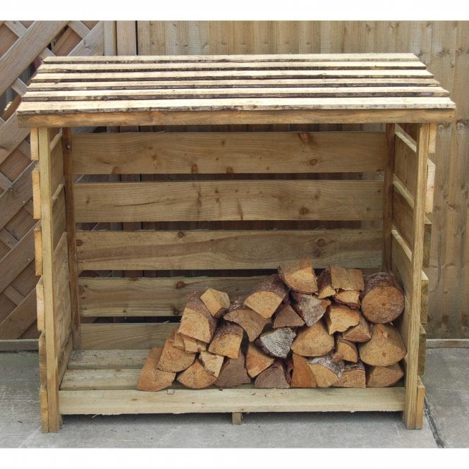 Click to view product details and reviews for Timber Slatted Panel Log Store.