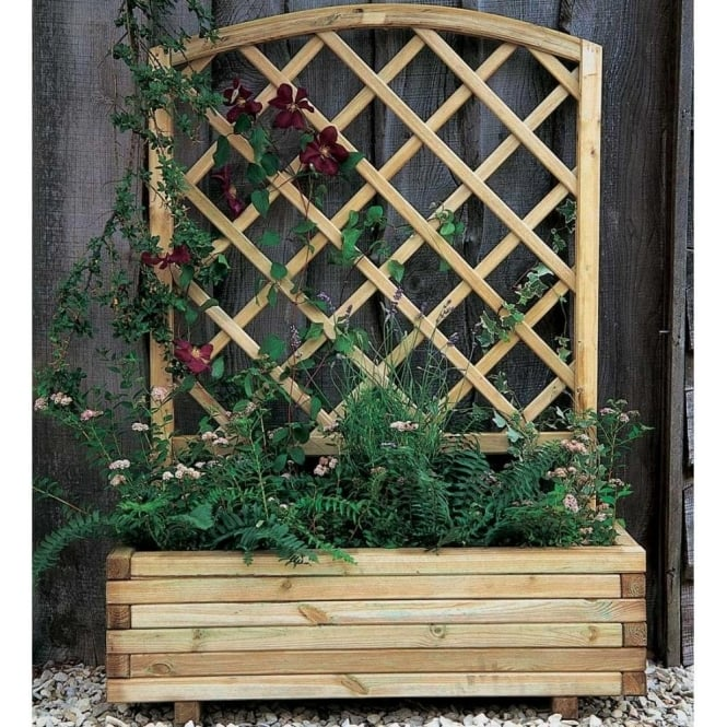 Toulouse Planter With Decorative Trellis