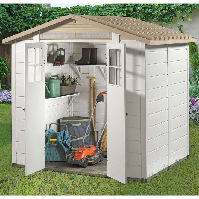 Click to view product details and reviews for Tuscany Evo 200 Plastic Shed.