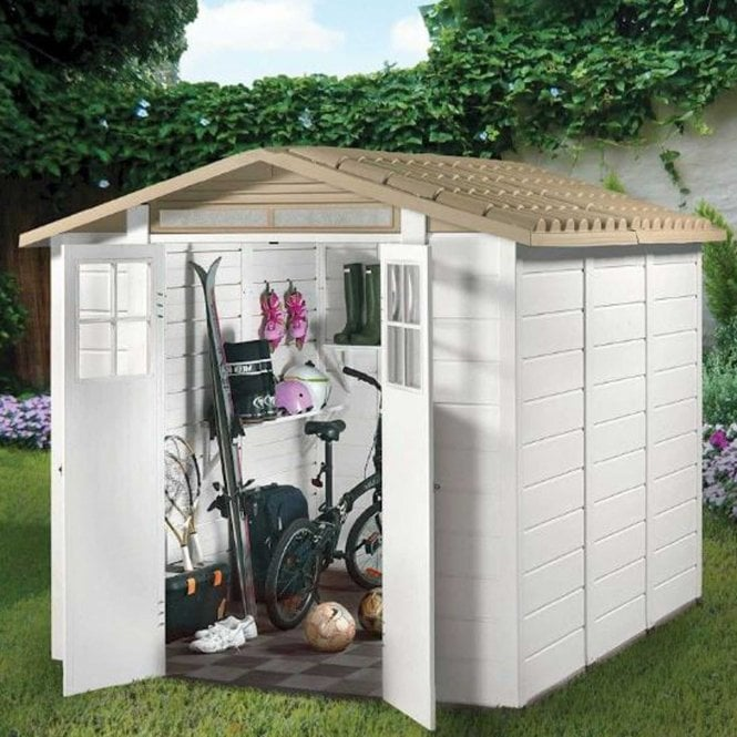 Click to view product details and reviews for Tuscany Evo 240 Plastic Shed.