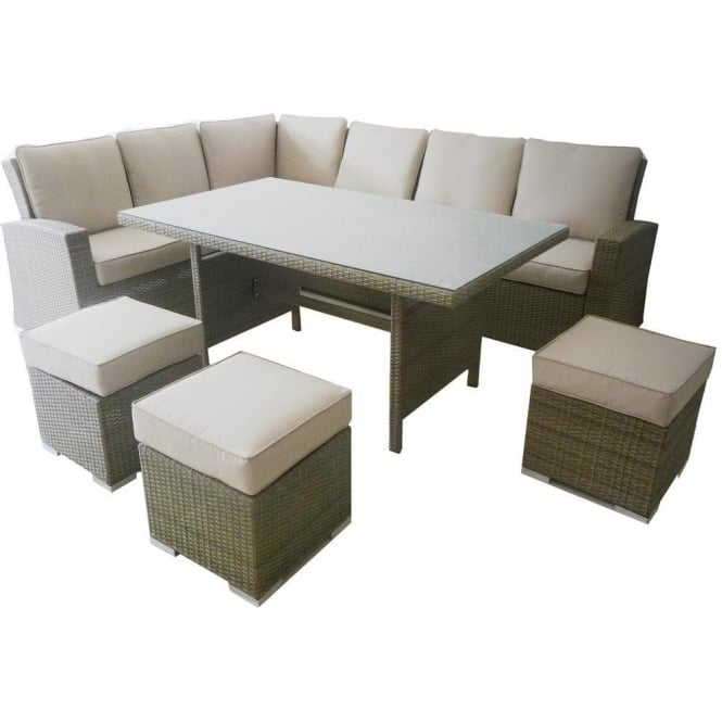 Alexandria Rattan Corner Sofa Reviews: Maze Rattan Tuscany Kingston Corner Dining Set