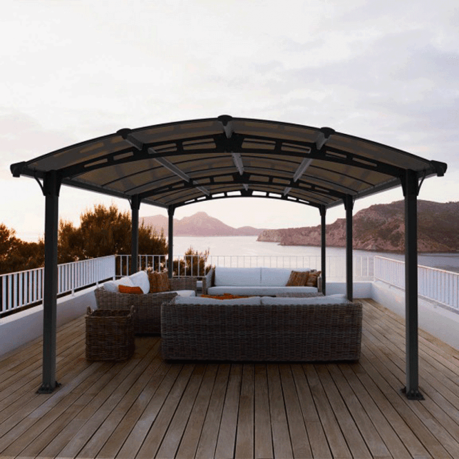 Click to view product details and reviews for Tuscon 4300 Garden Gazebo Grey.