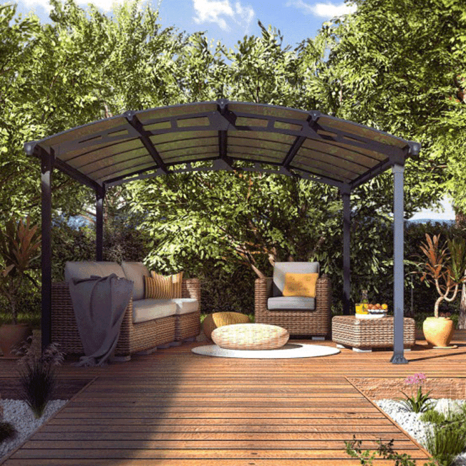 Click to view product details and reviews for Tuscon 5000 Garden Gazebo Grey.