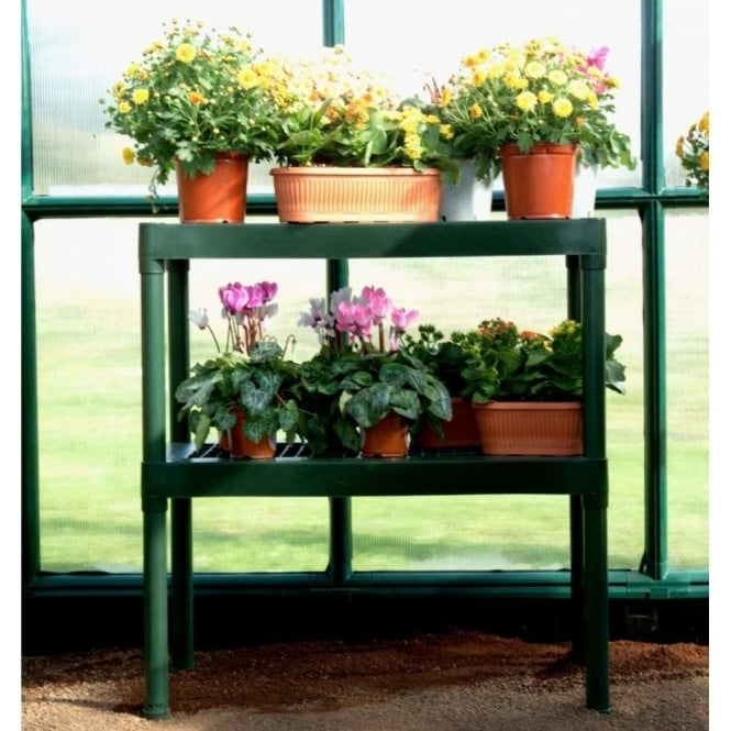 Click to view product details and reviews for Two Tier Greenhouse Staging Green.