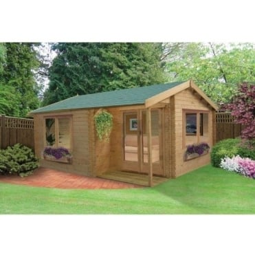 Twyford Log Cabin with Felt Roof