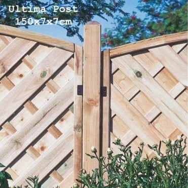 Ultima Fence Post: 3 Sizes in 70x70mm Thickness