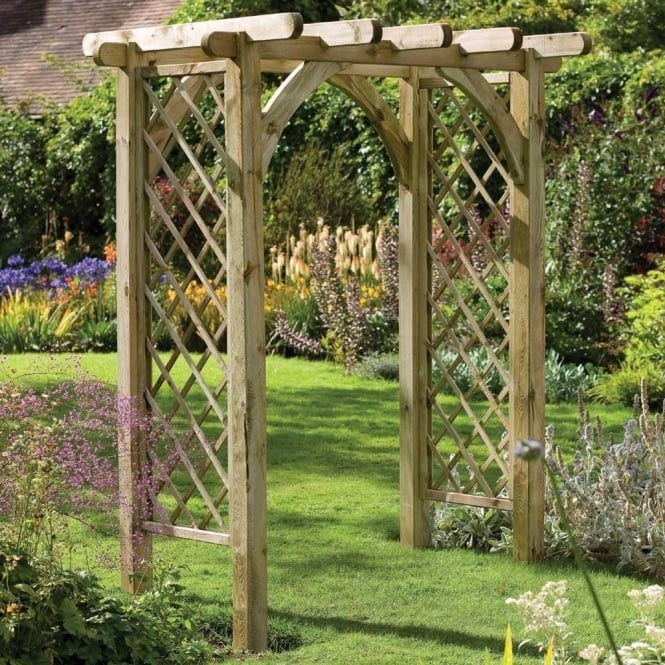 Click to view product details and reviews for Ultima Pergola Arch With Intergrated Trellis Panels.